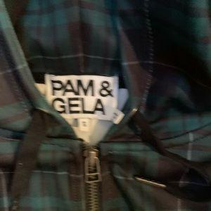 Pam & Gela Tops - PAM & GELA plaid zip-up